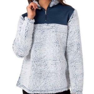 Navy & Blue Fuzzy Sweater ❄️